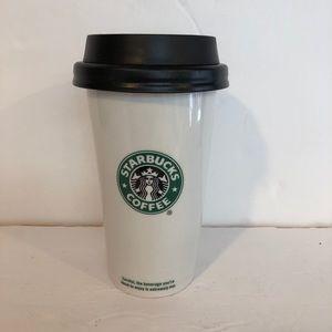White ceramic vintage Starbucks tumbler 16oz